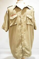 Boy Scouts Official Tan Short Sleeve Shirt Uniform Mens X-Large Nylon