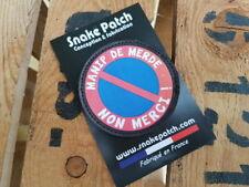 SNAKE PATCH - MANIP DE MERDE NON MERCI ! - écusson patch SCRATCH air OPEX DETAM
