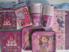SOFIA THE FIRST Princess In Training DISNEY Birthday Party Supply DELUXE Kit !