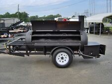 BBQ PIT SMOKER competition GRILL 5 x 10 trailer w gas fish fryer gas starter NEW