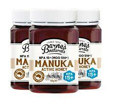 Manuka Honey Active Pure NPA 15+ MGO 514+ 500g Barnes Naturals Australian Qty 1