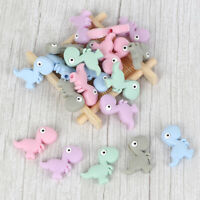 Dinosaur Silicone Teether Beads Sensory Jewelry Baby Teething Rattle Toy Making