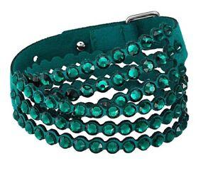 Swarovski Slake Power Collection Wraparound Bracelet, Green Large M 15 11/16in