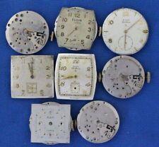 Vintage Elgin Mens Wrist watch Movements Lot- 555 17J / Parts Repair