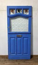 BEAUTIFUL ORIGINAL VICTORIAN-EDWARDIAN LEADED FRONT DOOR