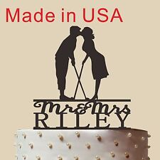 Customized cake topper, Wedding Golf Cake Topper, wedding toppers,Made in USA 5""