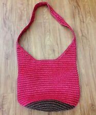 Buji Baja Oversized Pink Brown Crossbody Shoulder Bag 100% Paper