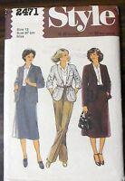 Vintage Simplicity Sewing Pattern no. 2471 ladies suit & slacks size 12 unused