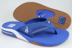 REEF FANNING X MLB LA DODGERS BLUE/WHITE/GUM FLIP FLOPS THONG SANDALS MEN SIZES