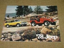 Vintage 1978 JEEP FOR '78 Catalog Brochure Wagoneer Truck Cherokee CJ-5 CJ-7 56
