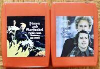 2 lot 8-Track tapes Simon & Garfunkel Bridge Over Troubled/ Parsley, Sage, Rose