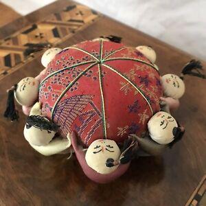 Vintage Red Silk Pin Cusion Hong Kong