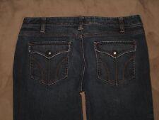 Ann Taylor LOFT Size 12 Slim Boot Dark Blue Stretch Denim Flap Pocket Women Jean
