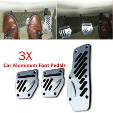 3PCS Car Non-slip Aluminum Accelerator Foot Pedals Pad Cover Brake Clutch Solid