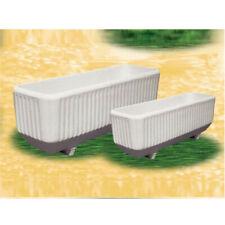 Fioriera vaso rettangolare in cemento bianco con idrofugo e fibre polietilene