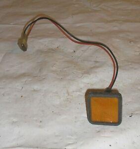 1981 Delorean DMC 12 OEM Left Door Front Amber Marker Light