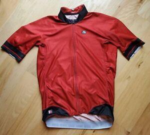 Castelli FRC men's cycling jersey L Large Brick Red Black EUC