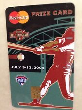 2004 MLB All Star Game Master Card Prize Card FanFest Houston July 9-13