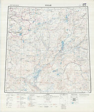 Russian Soviet Military Topographic Maps – TURGAY (Kazakhstan), 1:1Mio, ed.1964