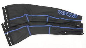 Verge Men's Zima+  Fleece Leg Warmers Black/Blue XS Brand New