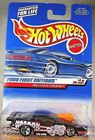 2000 Hot Wheels #64 First Editions 4/36 PRO STOCK FIREBIRD Black w5Sp-Wide Rear