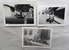 VINTAGE 1930s HARLEY DAVIDSON & SIDECAR MOTORCYCLE PHOTOGRAPH SNAP SHOT BIG TWIN