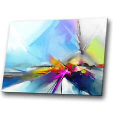 Blue Yellow Pink Purple Abstract Canvas Wall Art Large Picture Prints