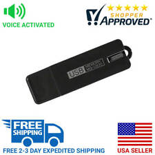 Professional Grade USB Flash Drive Spy Audio Voice Recorder w/ Long Life Battery