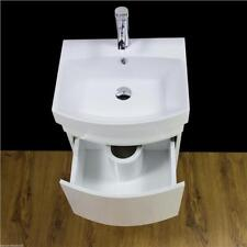 Vanity Unit Cabinet Basin Sink Bathroom Cloakroom Wall Hung Mounted 500mm Kl
