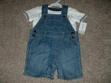 Carter's Baby Boys Denim Shortall Set Outfit Size 18 Months 18M NWT NEW 12-18 mo