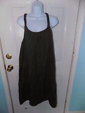 Liz Lange Maternity Jumper Dress Braided Straps Olive Green Size M Women's NEW