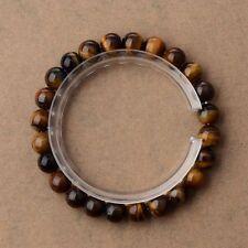Fashion Solid Simple Bracelet wIth Tiger's Eye Beaded Stretch Bracelet 8MM 2#