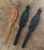 Size 18/20/22mm Vintage Bund Style Trench Wire Lug Watch Wristwatch Strap 153B