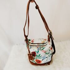 Beautiful Floral Genuine Leather Valentina Bucket Shoulder Bag Made In Italy