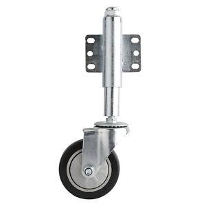 """4"""" Gate Stem Wheel Heavy Duty Spring Loaded Swivel Caster 220lbs, Free shipping"""