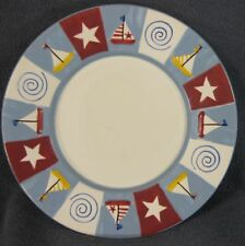 Yankee Candle Medium Large Underplate Tray Sailboats Stars Red White Blue