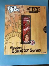 "NEW Tech Deck Wooden Collector Series "" BAKER "" Hard To Find Skateboard NIP"