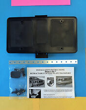 Retractable Hidden License Plate Kit  Cadillac Mercedes BMW