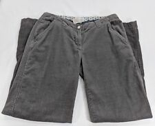 Horney Toad Gray Corduroy Pants Cotton/Bamboo Blend Woman's TW0