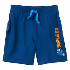 Disney Pixar Jumping Beans Finding Dory Toddler Boys Navy Blue Shorts Size 4T