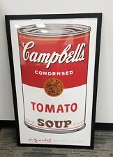 "Andy Warhol Campbell's Soup Vintage 2001 Offset Lithograph Print  28""Wx42""T"