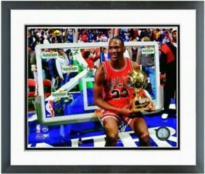 "Michael Jordan Chicago Bulls Slam Dunk Trophy Photo (Size: 12.5"" x 15.5"") Framed"