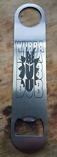 Rick and morty wubba lubba dub dub stainless steel bottle opener/church key