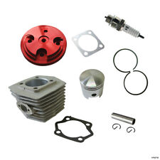 CNC Red Cylinder Head Cover&Cylinder&Piston FIT 80cc Motorized Bicycle
