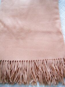Williams Sonoma 100% Cashmere Throw Toasted Almond 50 x 65 Very Good Condition