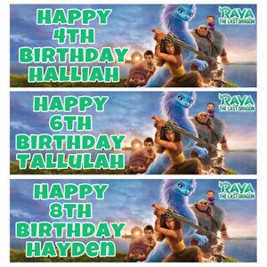 RAYA AND THE LAST DRAGON Personalised Birthday Banner - Disney Birthday Banner