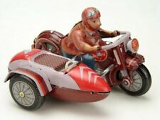 MS450 Vintage Motorcycle with Sidecar Retro Clockwork Wind Up Tin Toy