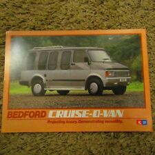 BEDFORD CRUISE-O-VAN 3.3 Litre GM Engine Concept UK English Brochure Flyer 1984