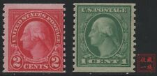 American Stamps -- USA 1914 Washington 443-444 Perf10 Vertically (SCOTT 110 USD)
