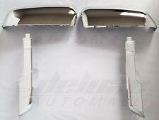 Chrome Top+Side Clip-On Mirror Covers FOR 2020-21 Chevy Silverado GMC Sierra HD
